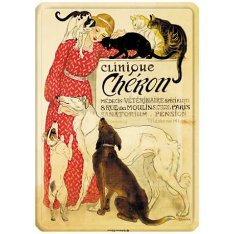 Plaque métal - Vétérinaire - Clinique Chéron