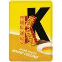Plaque métal 15x21 - Grand K