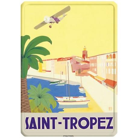 Plaque métal - Saint-Tropez - L'avion - Ville de Saint-Tropez