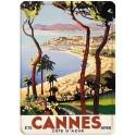 Plaque métal 15x21 - Cannes - Eté hiver