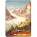 Plaque métal 15x21 - Chamonix - La Mer de Glace