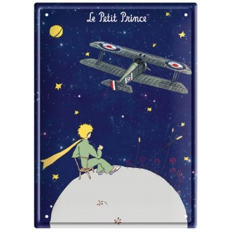 Plaque métal - Avion - Le Petit Prince