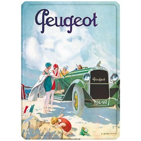 Plaque métal - La plage - Peugeot