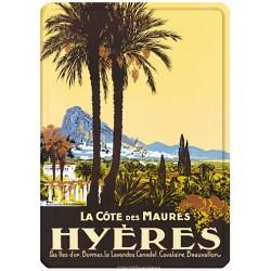 Plaque métal - Hyères - La Côte des Maures
