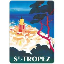 Plaque métal - Vue aérienne de Saint-Tropez