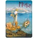Plaque métal 15x21 - Menton - Le pêcheur (fin de série)