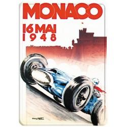 Plaque métal 15x21 - Grand Prix de Monaco de 1948