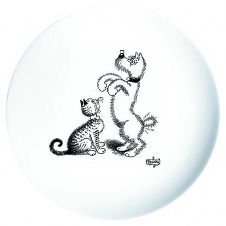 Assiette à dessert - Dressage de chien - Chats Dubout