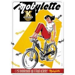 Plaque métal - Mobylette (fin de série)