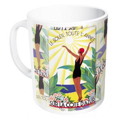 Mug - Soleil toute l'année - Côte d'Azur - PLM
