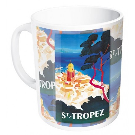 Mug - Vue aérienne de Saint-Tropez - Ville de Saint-Tropez