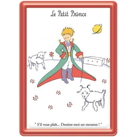 Plaque métal - Moutons - Le Petit Prince