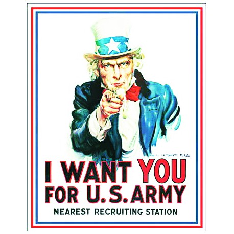Plaque US - I want you for US Army