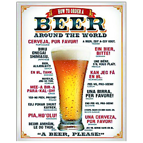 Plaque US - How to order a beer