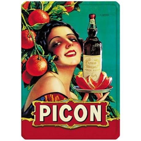 Plaque métal 15x21 - Apéritif Picon