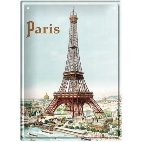 Plaque métal 15x21 - La Tour Eiffel
