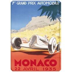 Plaque métal 15x21 - Grand Prix de Monaco de 1935