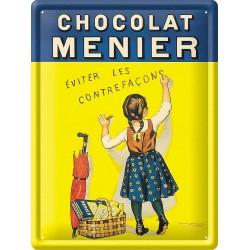 Plaque métal - Petite Menier - Chocolat Menier