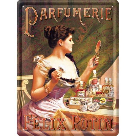 Plaque métal - Parfumerie - Félix Potin