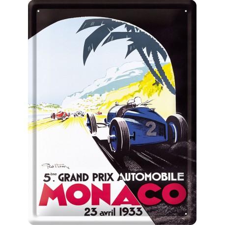Plaque métal - Grand Prix de Monaco de 1933 - Ville de Monaco
