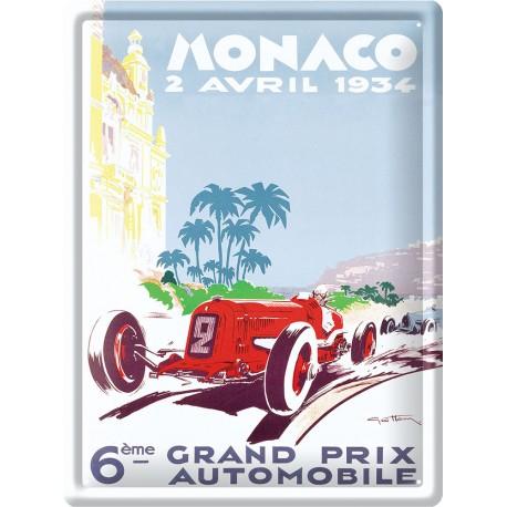 Plaque métal - Grand Prix de Monaco de 1934 - Ville de Monaco