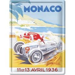 Plaque métal - Grand Prix de Monaco de 1936 - Ville de Monaco