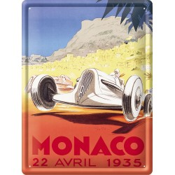 Plaque métal 30x40 - Grand Prix de Monaco de 1935