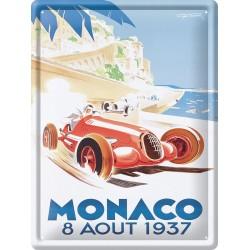 Plaque métal 30x40 - Grand Prix de Monaco de 1937