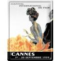 Plaque métal 30x40 - Festival de Cannes 1939 (fin de série)