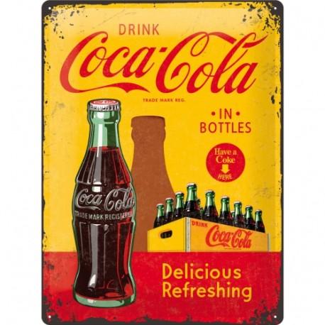 Plaque métal 3D 30x40 - Have a Coke