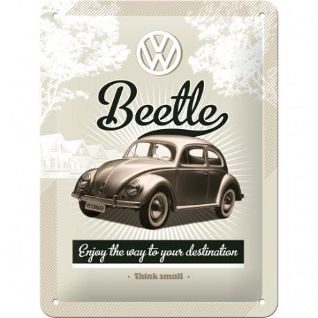 Plaque métal 3D 15x20 - Beetle