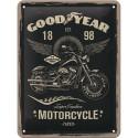 Plaque métal 3D 15x20 - Motorcycle