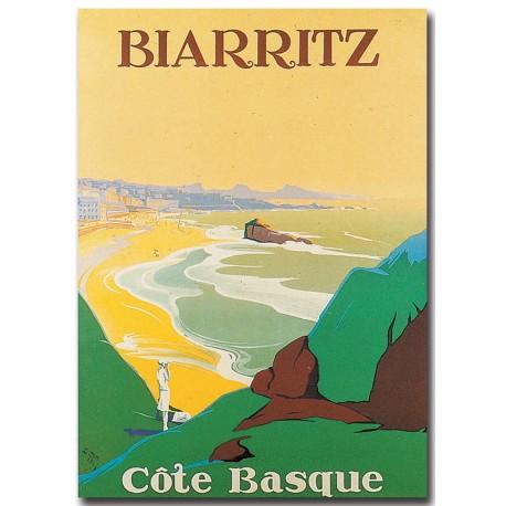 Affiche - Biarritz - Côte basque (fin de série) - Ville de Biarritz