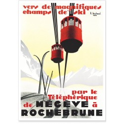 Affiche - Le téléphérique de Megève - PLM