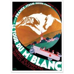 Affiche - Le Tour du Mont Blanc