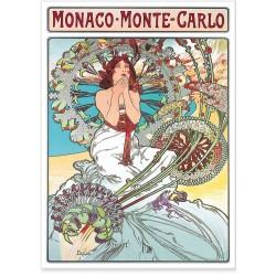 Affiche - Monaco Art nouveau