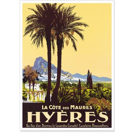 Affiche - Hyères - La Côte des Maures - PLM