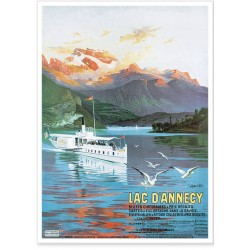Affiche - Le Lac d'Annecy
