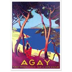 Affiche - Agay Plage