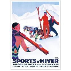 Affiche - Saint-Gervais - Col de Voza