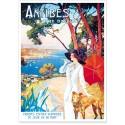 Affiche - Antibes - La promeneuse