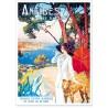 Affiche - Antibes - La promeneuse - PLM