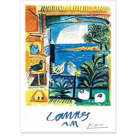 Affiche - Cannes - Les Pigeons - Picasso