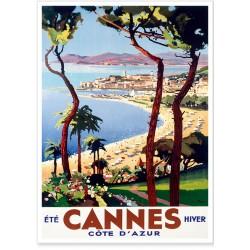 Affiche - Cannes - Eté hiver