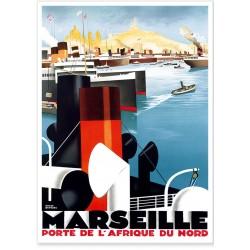 Affiche - Marseille Porte de l'Afrique du Nord