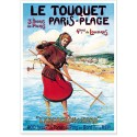 Affiche - Le Touquet - La pêche à pied