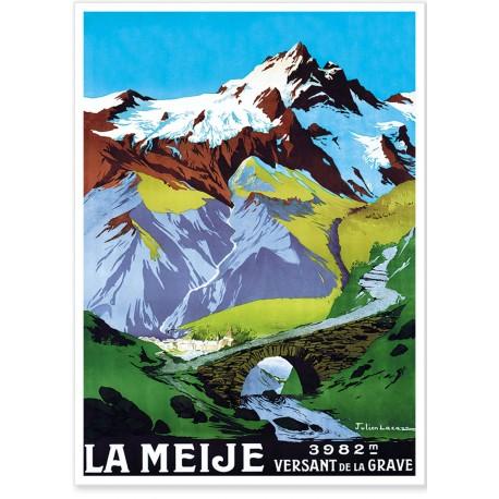 Affiche - La Meije - Versant de La Grave - PLM