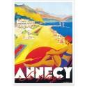 Affiche - Annecy - Plage