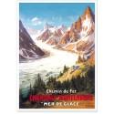 Affiche - Chamonix - La Mer de Glace