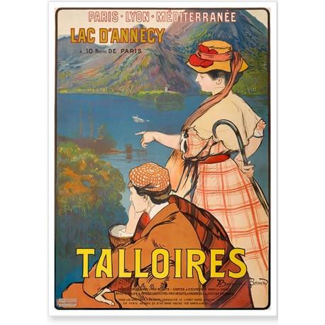 Affiche - Talloires - Le Lac d'Annecy - PLM